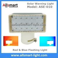Quality 18LED Red & Blue Flashing Solar Signal Warning Light for Government Project for sale