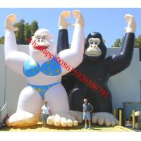25ft inflatable male and female gorilla for advertising Manufactures