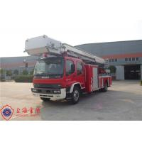 Six Seats Aerial Ladder Fire Truck New Generation Gross Weight 16000kg Manufactures