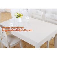DIY Round PVC Table Cover Protector Desk Mat Table Cloth Pvc Transparent,stamping table cloth plaid PVC table cover Manufactures