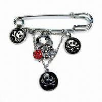 Metal Alloy Brooch, Decorated, Available in Various Sizes, Colors and Patterns Manufactures