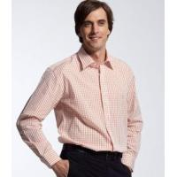 Men's Dress Shirts » Men's Plaid Long Sleeve Stand up Collar Dress Shirt Manufactures