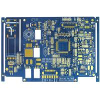 Blue 4 Layer FR4 Flash Gold Bare Rigid PCB Board Fabrication High Precision Manufactures