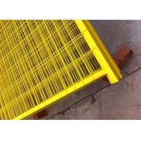 """Quality Canada standard Construction Temporar Fencing Panels 6'x9.6' mesh 2""""x4""""x3.2mm powder coated yellow 1.2""""/30mm tubing for sale"""