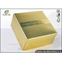 Luxury CMYK Cosmetic Gift Box , Product Packaging Boxes Embossing Textured
