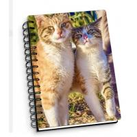 Customize A4 A5 A6 Cover 3D Lenticular Notebook With Spiral For School / Office Supplies Manufactures
