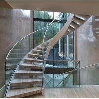 Arc Modern Wood Steel Round Staircase Manufactures