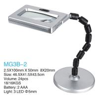 LED Lamp Folding Magnifying Glass / Table Top Magnifying Glass With Light Manufactures