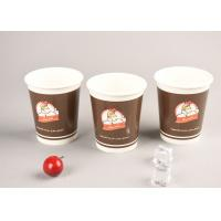 Eco Friendly 16oz Cold Paper Cups Iced Recyclable Coffee Cups For Shop / Office Manufactures