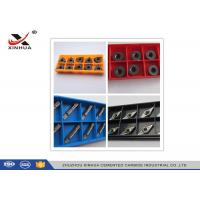 Indexable Carbide Lathe Inserts High Cutting Force For Turning / Facing Manufactures