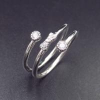 OEM 925 Silver Cubic Zirconia Rings / 925 Sterling Silver Engagement Ring Manufactures