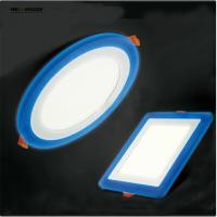 3 Model Round Square blue+white double color Led Panel Light 5w/9w/16w/24W AC85-265V Recessed LED Ceiling downlight Manufactures