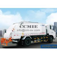 PLC Rear Loader Automated Garbage Trucks , Self Compress Waste Disposal Trucks Manufactures