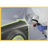 Pre - Taped Multi - Folded Car Paint Masking Film With Auto Masking Tape Manufactures