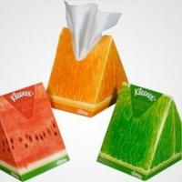 Colorful Eco Triangle Cardboard Boxes Fruit Shaped For Tissue Paper Packaging Manufactures