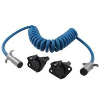 Colorful Durable Coiled Power Cord Cable TPU Jacket 10 Feet For Commercial Vehicle Manufactures