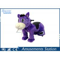 Adjustable Stirrup Coin Operated Horse / Horse Ride On Toy Washable Skins Manufactures