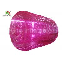 2.4m Adults Pink Inflatable Water Zorb Roller For Grassland , Snow Land Manufactures