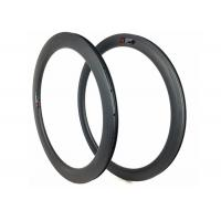 Hookless 60mm Carbon Road Bike Rims Clincher Tubeless 700c With Matte / Glossy Manufactures