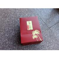 China Hard Paper Custom Made Shopping Bags , Boutique Shopping Bags Red Color on sale