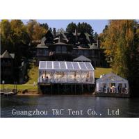Restaurant Or Garden 20x40 Party Tent , Clear Outdoor Event Tent With Transparent PVC Roof Manufactures