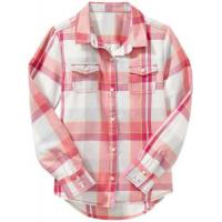 Ladies' shirt » Ladies Cotton Plaid Double Flap Pocket Long Sleeve Shirt Manufactures