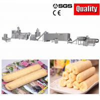 Chocolate Core Filling Puff Snack Food Production Line For Ball Low Power Consumption Manufactures