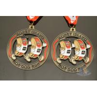 Hot Dog Running Custom Sports Medals Antique Gold Plating Size 50.8*3mm Manufactures