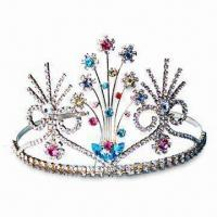 China Tiara, Made of Brass Claw, Various Styles are Available on sale
