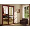 Aluminium Large Lighting Area Sliding Tempered Glass Door Easy Movement Manufactures