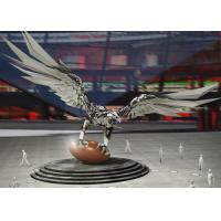 Large Stainless Steel Sculpture Outdoor Decoration Stainless Steel Eagle Sculpture Manufactures