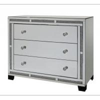 Quality Sparkly Crushed Diamond Mirrored Night Stands 3 Drawers Europe Design for sale