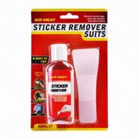 Sticker remover with wipe surface clean, apply directly onto label Manufactures
