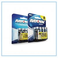 PVC Battey Blister Card Packaging Paper Card With 6 In A Row Manufactures