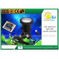 China LED Color Changing Submersible Aquarium Light , Fountain Light With Remote Controller on sale