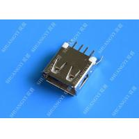 Buy cheap Straight Solder Type USB A Female Plug Connector Jack Silver Tone from wholesalers