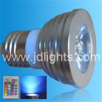 China Remote control  dimmer RGB-E27-3W on sale