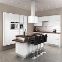 Modern Solid Wood White Kitchen Cabinets MDF Board With Single Sink / Faucet Manufactures