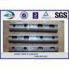 Track Railway Fish Plate Plain / Oxide Black for Standard Steel Rail Manufactures