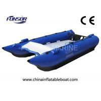 Adult Blue 30HP High Speed Inflatable Boats With Aluminum Floor Manufactures