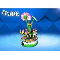 3 Players Small Carousel Merry Go Round Playground Equipment 300W 220V Manufactures