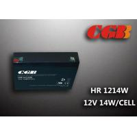 12V 3AH HR1214W Energy Storage Battery , High Rate Discharge battery Maintenance Free Manufactures