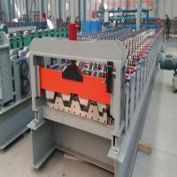 Galvanized Panel Floor Decking Forming Machine With Double 11.5kw Motor Manufactures