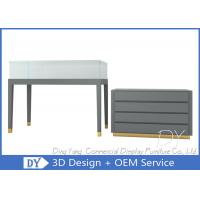 Matte Gray Jewelry Display Counter  / Jewelry Display Showcases Manufactures