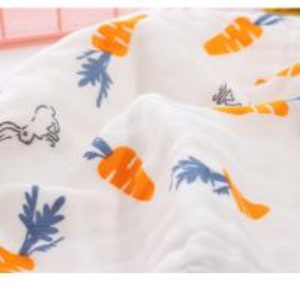 Quality Super Soft Face Bath Towel Organic Washcloths Burp Cloth Sweet Printed Design for sale