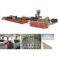 PLC Control PVC Profile Extrusion Machine / PVC Door Making Machine Manufactures