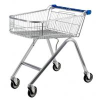American Style 71L UK Shopping Cart With Base Grid , Grocery Shopping Trolley Manufactures