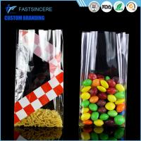 Side Gusset Clear Square Bottom Cellophane Bags Opp Food Grade Plastic Bag Manufactures