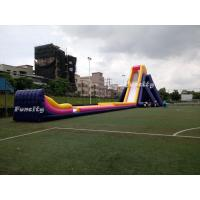 Plato 0.55mm Pvc Tarpaulin 56*14.5*13.5m Giant Inflatable Hippo Slide For Adults Manufactures