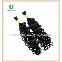 Peruvian 5A virgin remy hair bulk ,natural color(can be dye) curly style 10''-26''length Manufactures